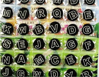 6pcs Alphabet Letter 30mm Plastic Badge Brooch Pin Birthday Party Lolly Bag Gift