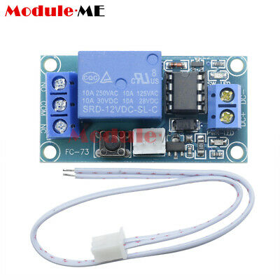 New 12V 1 Channel Latching Relay Module with Touch Bistable Switch MCU Control M