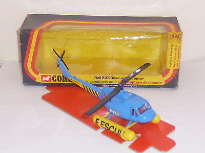 CORGI TOYS No. 924 BELL 205 RESCUE HELICOPTER 1976 N/MINT IN ORIGINAL BOX