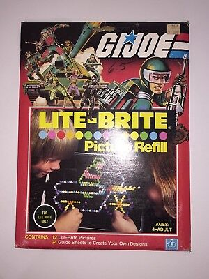 NEW Lite Brite Picture Refill Pack GI Joe 1982 #5475 Never been opened