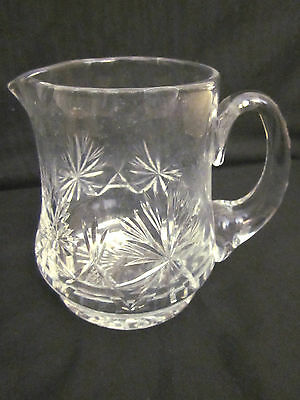 ~Stunning Vintage Crystal Pouring Jug - Med Size - Classic Pattern - Vgc~