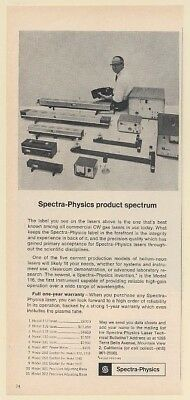 1963 Spectra-Physics Laser Products 11 Models with Pricing Print Ad