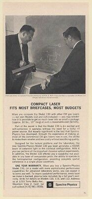 1963 Spectra-Physics Model 130 Compact CW Gas Laser Print Ad