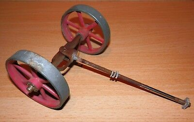 GENUINE 1960s MAMOD TE1 LIVE STEAM TRACTION ENGINE FRONT WHEELS