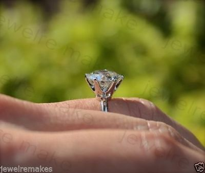 2.50Ct White Round Diamond Solitaire Her Engagement Wedding Ring 14K White Gold