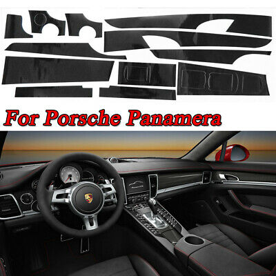 Gloss 5D Carbon Fiber Pattern Interior Trim Decal For 2010-2018 Porsche Panamera