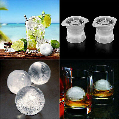 Top Ice Ball Maker Sphere Mold Creates Perfect 2.5 INCH Round Ice Cube Balls Set