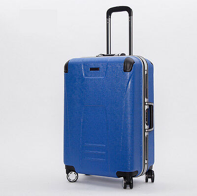 "24"" Blue TSA Coded Lock Universal Wheel Business Travel Suitcase Luggage Trolley"