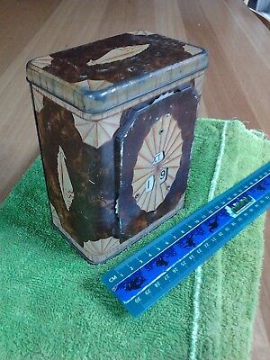 Very rare Antique or Vintage Perpetual Calendar canister tin