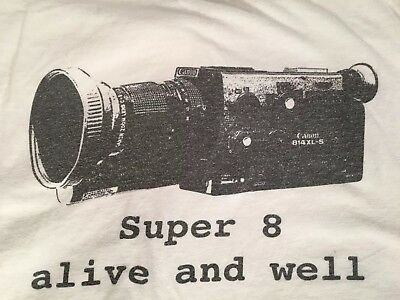 SUPER 8 IS ALIVE AND WELL Filmmaker T Shirt Size XL Canon 814XLS Camera Tee 8mm