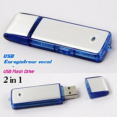 8GB Mini USB Digital Voice Recorder Rechargeable Flash Dictaphone Memory Stick