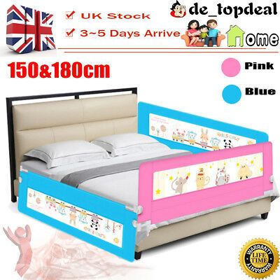 150/180cm Pink&Blue Kid Bed Rail Protection Safety Guard infant Folding Bedrail