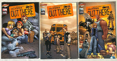LOT 3 CALIFORNIA OUT THERE n°3-4-5 ¤ 2002 SEMIC COMICS