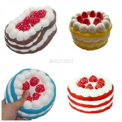 AU Squishy Strawberry Cake Cream Scented Slow Rising Squeeze Anti Stress Toy