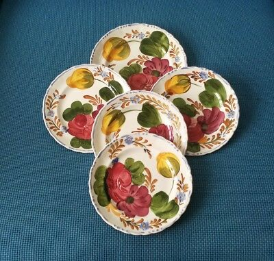 """SIMPSONS CHANTICLEER WARE *BELLE FIORE* 1 X 8""""+ 4 x 6.8""""SIDE PLATES  #VERY GOOD#"""