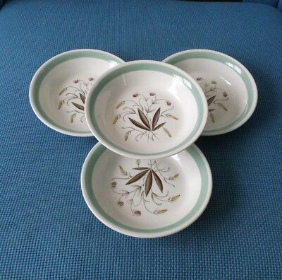 "Alfred Meakin *hedgerow*  Four Vintage 7.25"" Soup Bowls. ##excellent Used##"