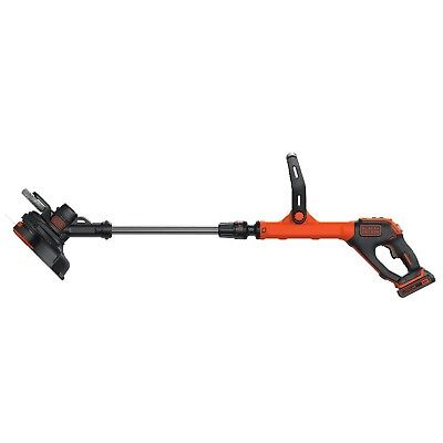 BLACK + DECKER LSTE525 20V Max Lithium Easyfeed String Trimmer/Edger Plus 2-L...
