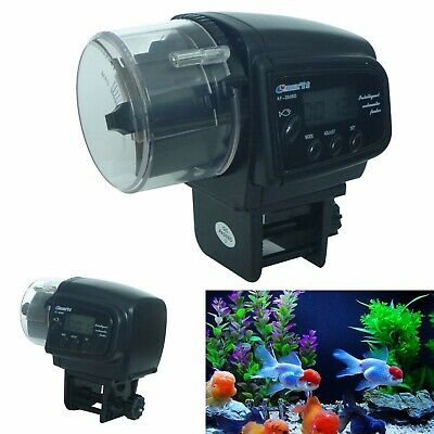 Automatic Auto Digital LCD Fish Food Feeder Timer For Aquarium Tank Pond Feeding