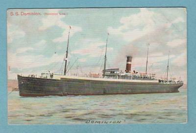 Dominion Line ss DOMINION (1898-1922) .. built 1894 for HAPAG as 'Prussia'