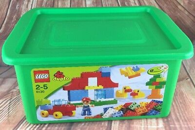 LEGO DUPLO 6130 Empty Platstic Storage Box Container Tub with Lid BOX ONLY