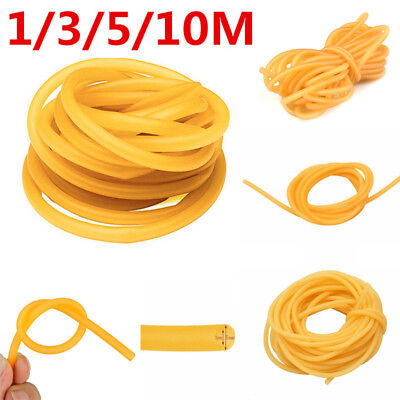 1/3/5/10M Elastic Natural Latex Rubber Band Tube For Hunting Slingshot Catapult