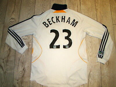 Los Angeles Galaxy Home Shirt 2007 Beckham 23 Long Sleeve