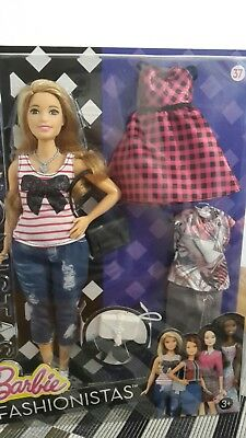 Barbie Fashionistas doll 37 every day chic curvy with outfits