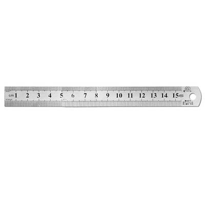 "12"" 300mm Stainless Steel Metal Ruler Rule With Conversion Table Tool"