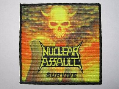 NUCLEAR ASSAULT Survive printed NEW patch thrash metal