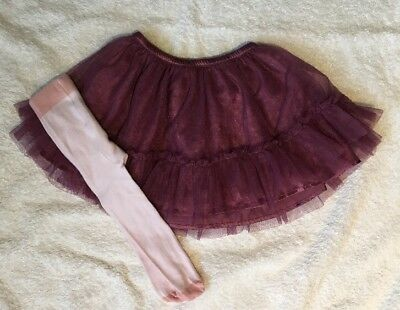 GIRLS BABY GAP GORGEOUS TUTU RARA SKIRT & TIGGTS 9-12 Months