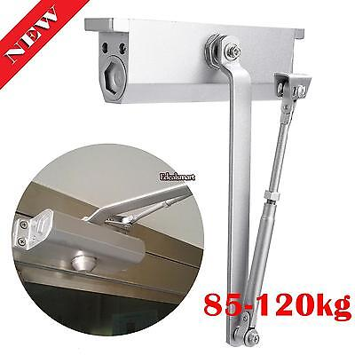 2x Aluminum Commercial Door Closer Two Independent Valves Control Sweep 85-120Kg