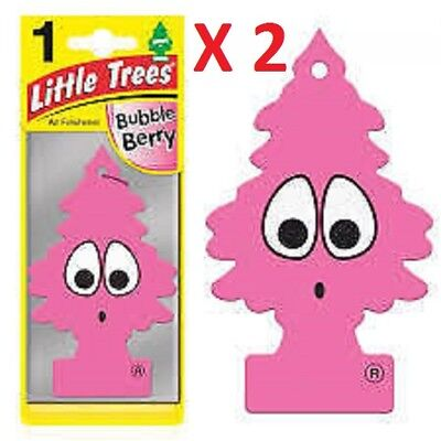 2 X Little Trees Air Freshener Bubble Berry Scented Car Office Lasting Fragr