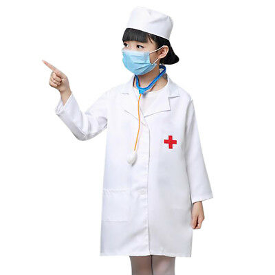 TopTie Kid's Lab Coat with Cap, For Kid Scientists or Doctors, Halloween Party