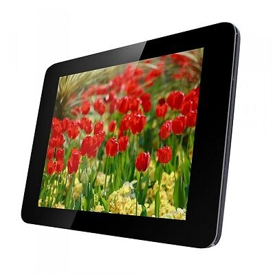 "Digital Automatic Photo Picture Frame 12"" Black Frameless  USB, SD/MMC/MS"