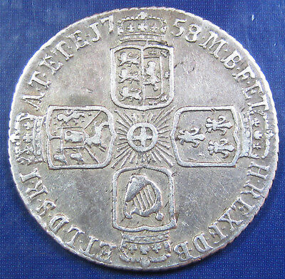 1758 6d George II silver Sixpence in a lovely grade