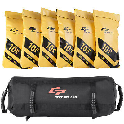 Goplus 60lbs Body Press Durable Fitness Exercise Weighted Sandbags w Filler Bags