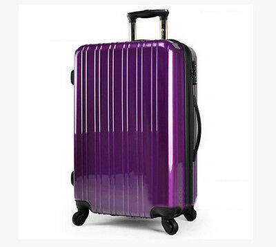 "24""  Purple Height 65cm Universal Wheel ABS Travel Suitcase/Luggage Trolley"