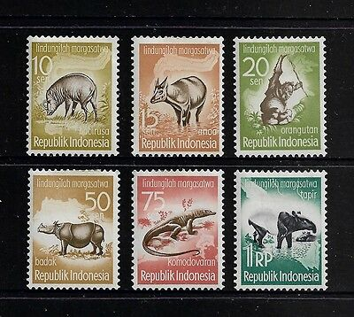 INDONESIA - 1959 Animal Protection Campaign, set of 6, MH