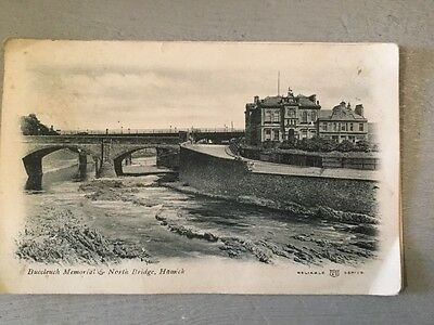 Reliable Series Postcard 1907 'Buccleuch Memorial & North Bridge ,Hawick