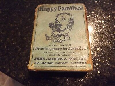 Happy families vintage card game John Jaques & Son LTD