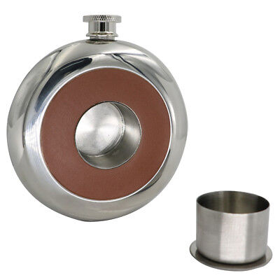 5oz Portable Alcohol Liquor Whiskey Wine Hip Flask Stainless Steel Mirror Ardent