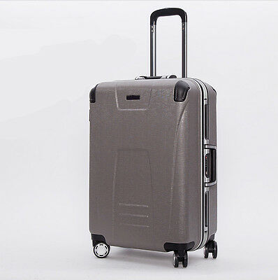 "Grey Business 24""TSA Coded Lock Universal Wheel Travel Suitcase Luggage Trolley#"