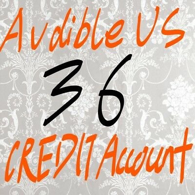 US Audible Account with 36 credits included, fast delivery, buy 1 please