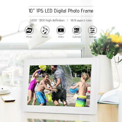 "10"" IPS LCD HD Digital Photo Picture Frame MP3 MP4 Player + Remote for Gift V5G9"