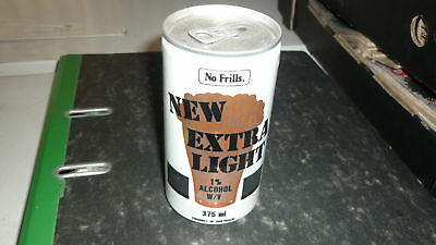 OLD AUSTRALIAN BEER CAN, 1980s NO FRILLS NEW EXTRA LIGHT, ALLOY CAN