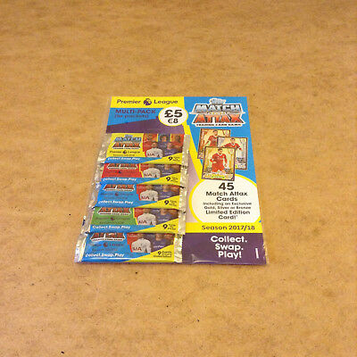 Epl Match Attax Premier League 2017/18 Trading Card Multi Pack New Sealed Packs