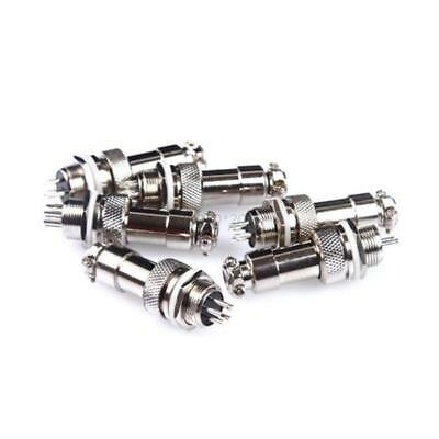 UK (1 Pair) Aviation Plug 2-6 Pins Male Female Panel Metal Wire Connector 12mm