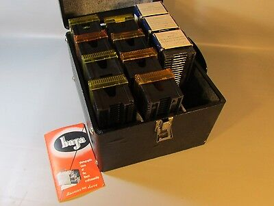 35mm  Photo Slide Storage Case Wood w/11 Slide Trays 30 Capacity