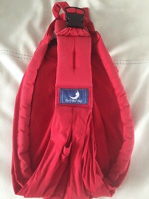 Baba Sling, baby carrier - Red. Suitable for  newborns - 3yrs. Comes with bag