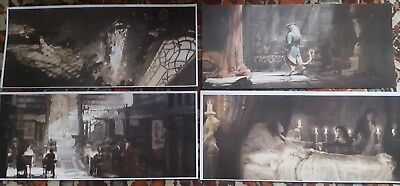 beauty and the beast film prop concept art x 4 BEASTS CASTLE